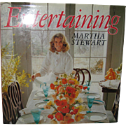 "Martha Stewart ""Entertaining"" 1982 Hardcover First Edition - Signed!"