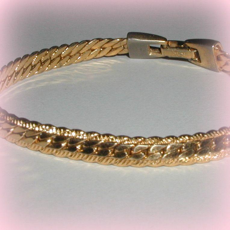 Classic Gold-Tone Napier Bracelet
