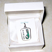 SALE BMCo Sterling Enamel Bermuda Charm - Original Box