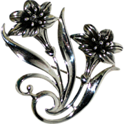 SALE Sterling Silver Lily Pin or Brooch