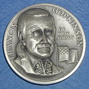 SALE Declaration of Independence Medal - Francis Hopkinson of New Jersey