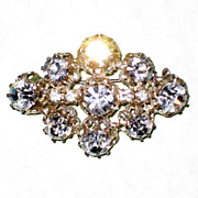 SALE Vintage Austrian Crystal Brooch with Maximum Sparkle
