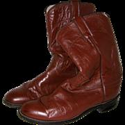 Justin Tan Leather Cowboy Boots - Women's 7 1/2B