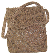 Crocheted Shoulder or Cross Body Purse with Attached Change Purse