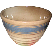 1920's Hull Yellow Ware Small Mixing Bowl Size 30