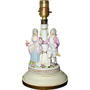 1940's Porcelain Boudoir Lamp