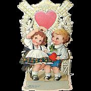 1920's Stand-Up Valentine - ChildrenandWindmill