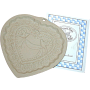 """Brown Bag Cookie - """"Victorian Heart"""" Mold, Marked 1985"""