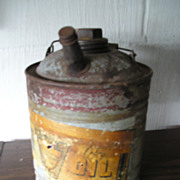 Kerosene Oil Can with Labels