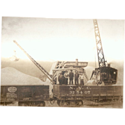 Early Railroad and Steam Shovel Photograph