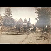 Vintage Steam Paver Photograph