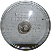SOLD Sanitary Cheese Preserver-Glass Lid