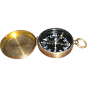 SOLD Compass with Brass Finish