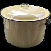 SOLD Enamelware Pot