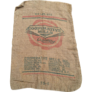 Advertising Burlap Feed Sack