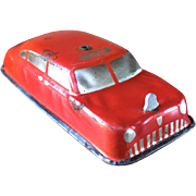 ARGO Lithograph Tin Toy Fire Chief Car