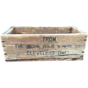 Wood Advertising Box-Fence and Wire