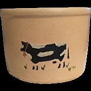Stoneware Crockery Bowl:Robinson Ransbottom:Cow