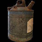 Oil or Kerosene Galvanized Tin Can