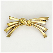 French FIX Gold Filled Bow Pin
