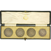 English Victorian Silver Buttons 1896- CHARLES HORNER