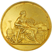 French 1895 Silver Gilt Nantes Medal - LEMOINE