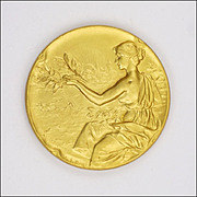 Belgian Circa 1910-1920 Gold Washed Medal - Agriculture & Animals