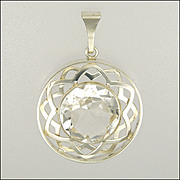 Finnish Sterling Silver and Crystal Quartz Pendant - SALOVAARA TURKU