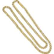 "English Antique 9K Gold Chain Necklace  - 17½"" - 13.7 grams"