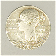 Queen Victoria  Diamond Jubilee Sterling Silver Token or Medal