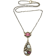 English Arts and Crafts Silver and Gemstone Necklace -BERNARD INSTONE