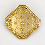 French Antique Gold Filled Pin - MURAT