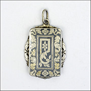 Victorian Silver Niello Locket