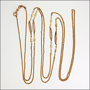 """SOLD French Rose Gold Double Plated Guard Chain - 59"""""""