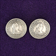 A Pair of Antique Austro-Hungarian Maria Theresa Silver Buttons