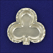 English Victorian  Silver Clover Shaped Pin Dish- Hallmarked 1898