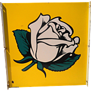 White Rose Double Sided Flange Sign