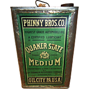 Phinny Bros Quaker State 5 Gallon Oil Can