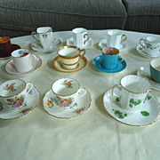 Assorted Demitasse Cups & Saucers