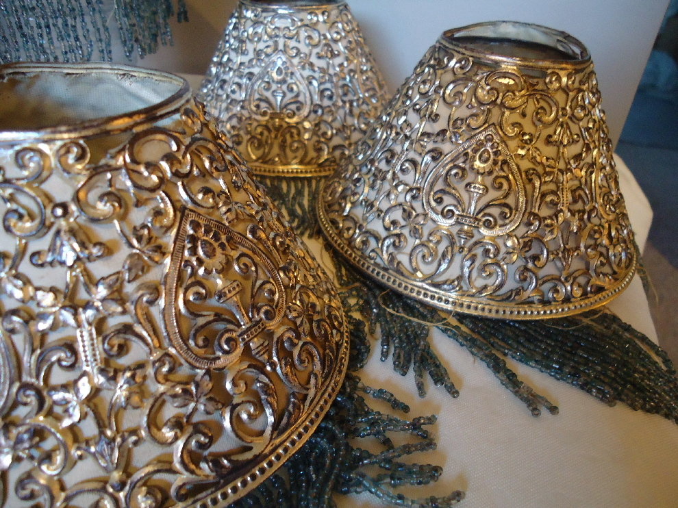 Miniature Filigree Beaded Lamp Shades From Rubylane Sold