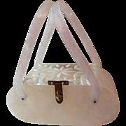 Lucite Florida Handbag - Made in Miami Vintage 1950's Purse Book Piece