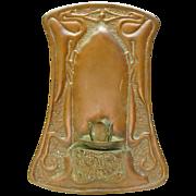 SOLD Hammered Sheet  Copper Art Nouveau Wall Sconce, Handicraft Guild of Minnesota