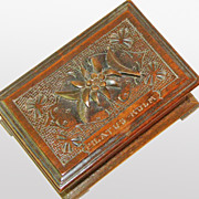 SALE Black Forest Desk Box, Souvenir of Pilatus-Kulm, Ca. 1900