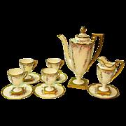 Hand Painted Lenox Belleek 11 Piece Coffee Set