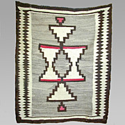 Regional Navajo Weaving / Rug, 1910's, Wonderful Graphics