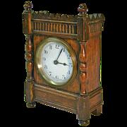 SALE 1920's French 30-Hour Oak Desk / Shelf Clock
