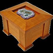 SOLD Mission Style Quartersawn Cherry Dresser Box w/Geode Decoration