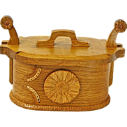 SALE Valentine Gift! Norwegian Style White Oak Tine Bentwood Box, Artisan Crafted at Sweetpea