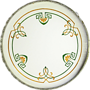 German Arts and Crafts Style Footed Ceramic Tray , Ca. 1920