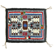 Hand Woven Storm Pattern Rainbow Man Navajo Weaving, Tapestry, Ca. 1970's